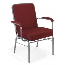 300-XL-803 School Furniture 500 Lbs Big & Tall Comfort Seat XL Series Wine Fabric Stacking Reception Chair with Arms
