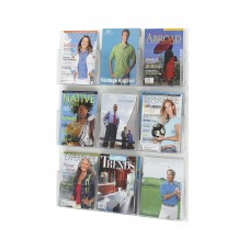 Safco Furniture  5665CL Clear2c Clear Break-Resistant Polycarbonate Pocketed Magazine Display