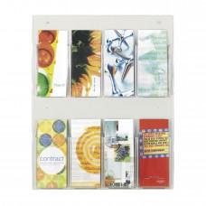 Safco Furniture  5673CL Clear2c 8 Pamphlet literature break-resistant polycarbonate plastic pockets Display