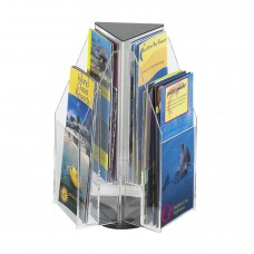 Safco Furniture  5697CL Reveal 6 Clear acrylic thermoformed Pamphlet Tabletop Displays