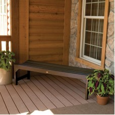 AD-BENN2-ACE Weathered Acorn Recycled Plastic 500 Lbs Capacity Lehigh Outdoor Furniture Backless Patio Bench-Made in USA