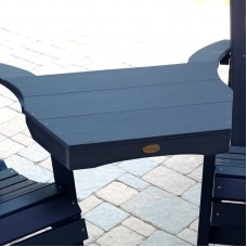 AD-CONT1-NBE Nantucket Blue Highwood USA Recycled Plastic Adirondack Outdoor Furniture Tete-a-Tete Connecting Table-Made in USA