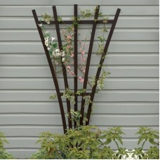 AD-TREL1-BKE Black Recycled Plastic Lawn & Garden Outdoor Traditional Furniture Hartford Fan Trellis Stand-Made in USA
