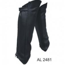 Ladies Girl Fashion Motorcycle Biker Long Size Spandex Braided leggings Analine Cowhide Leather