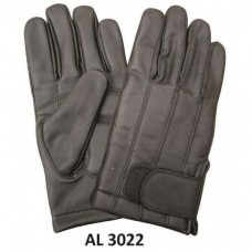 Men's Boys Fashion Large Size Motorcycle Black Full Finger Lined Gloves