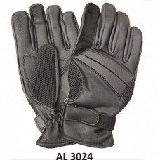 Men's Boys Fashion Large Size Motorcycle Black Full Finger Vented Gloves With Gel Palm