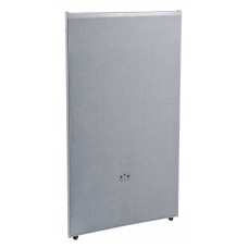 P4725-GF-GV Office Furniture RIZE Series 2 Inch Wide Gray Steel Frame 47 Inch x 25 Inch Gray Vinyl Panel