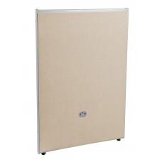 P4731-GF-BV Office Furniture RIZE Series 2 Inch Wide Gray Steel Frame 47 Inch x 31 Inch Beige Vinyl Panel