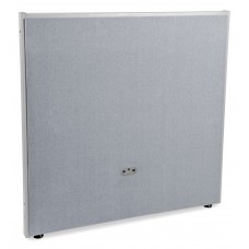P4748-GF-GV Office Furniture RIZE Series 2 Inch Wide Gray Steel Frame 47 Inch x 48 Inch Gray Vinyl Panel