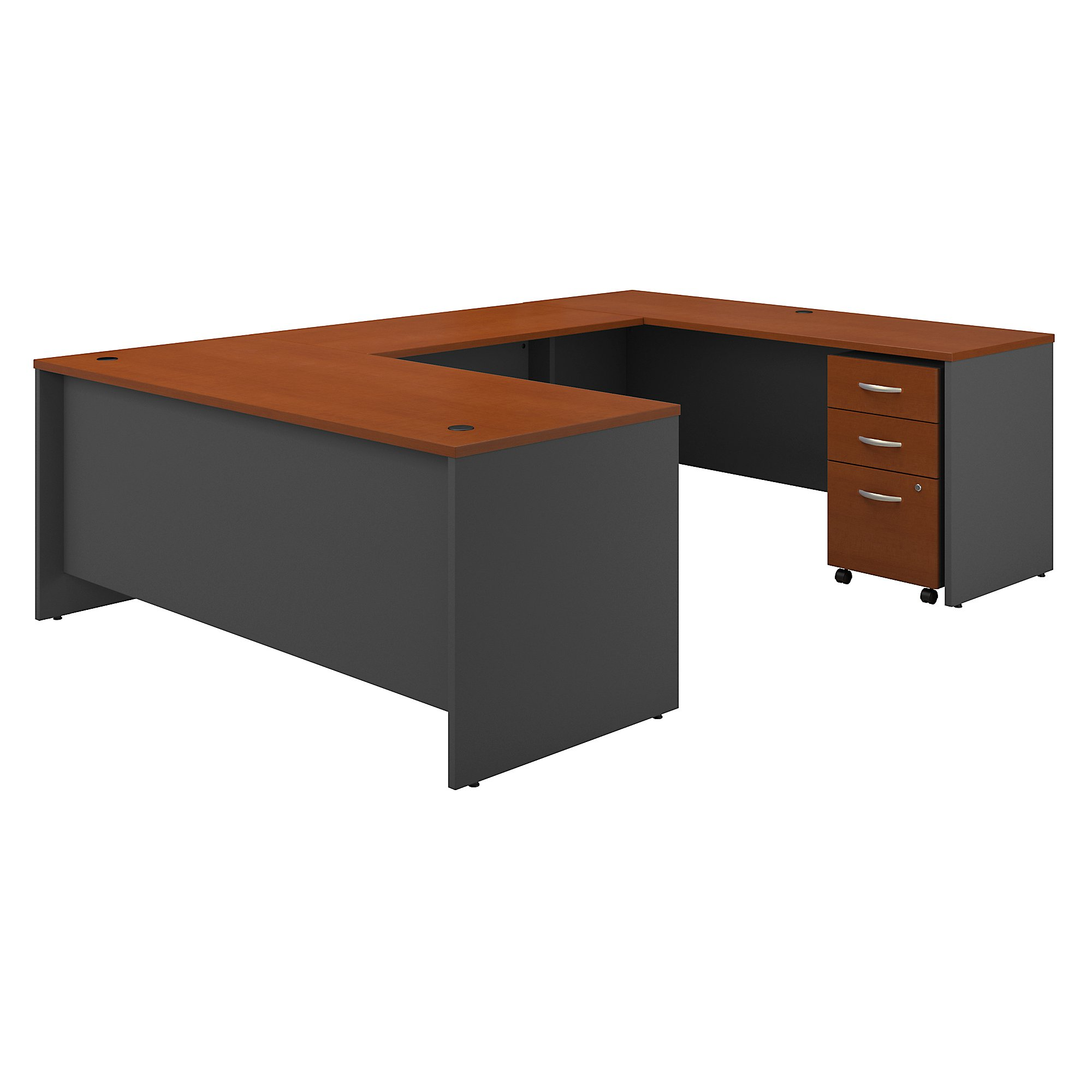 Office Furniture Series C 72 W x 30 D U Station with 3 Drawe